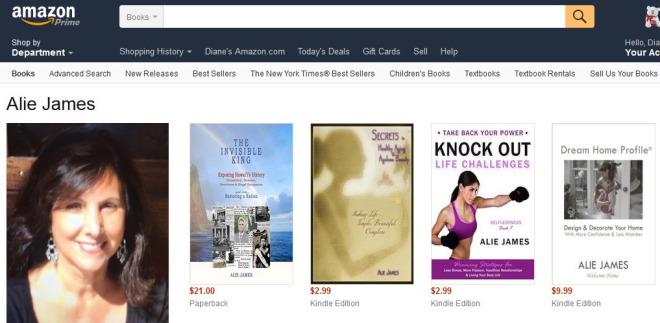 Alie Author on Amazon